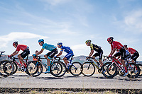 With strong crosswinds, the peleton fractures into many (9 through the feedzone) pockets of riders and makes for fierce racing form start to finish at a (very) high average speed (50.63 km/h)<br /> The group also contains eventual stage winner Philippe Gilbert (BEL/Deceuninck-Quickstep).<br /> <br /> Stage 17: Aranda de Duero to Guadalajara (220km)<br /> La Vuelta 2019<br /> <br /> ©kramon