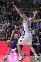 14.06.2013 Bacelona, Spain. Liga Endesa Play Off titulo. Picture show Juan Carlos Navaro in action during game betwen FC BArcelona v Real Madrid at Palau Blaugrana