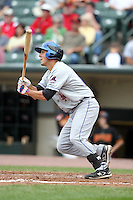 Buffalo Bisons third baseman Zach Lutz during a game vs. the Rochester Red Wings at Frontier Field in Rochester, New York;  September 6, 2010.  Buffalo defeated Rochester 16-1 in the season finale for both teams.  Photo By Mike Janes/Four Seam Images