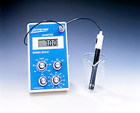 pH METER - Probe In Empty Beaker<br />