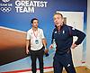 Sir Chris Hoy <br /> Olympics London 2012 <br /> press conference at Team GB House, Stratford, London, Great Britain <br /> 7th August 2012 <br /> <br /> Men's Team Sprint Finals - Gold 2nd August 2012 <br /> <br /> Men's Keirin Finals 1-6 7th August 2012 <br /> <br /> <br /> Sir Chris Hoy <br /> <br /> <br /> Photograph by Elliott Franks