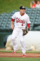 Peoria Chiefs second baseman Mason Katz (5) during a game against the Kane County Cougars on June 2, 2014 at Dozer Park in Peoria, Illinois.  Peoria defeated Kane County 5-3.  (Mike Janes/Four Seam Images)