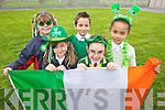 Laura Dennehy, Abigail Foley, Tiana Ward, Gary Bala and Rachel O'Donnell Scoil Eoin, Balloonagh enjoying Seachtaine na Gaeilge
