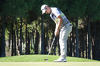 Guido Migliozzi (ITA) in action during the first round of the Turkish Airlines Open, Montgomerie Maxx Royal Golf Club, Belek, Turkey. 07/11/2019<br /> Picture: Golffile | Phil INGLIS<br /> <br /> <br /> All photo usage must carry mandatory copyright credit (© Golffile | Phil INGLIS)