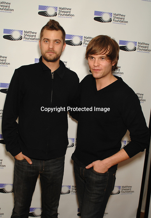 "Joshua Jackson and Van Hansis..At The The Matthew Shepard Foundation Presents ..An Evening Honoring ""The Laramie Project"" on    December 1, 2006 at Town Hall in New York...Robin Platzer, Twin Images"