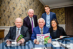 Leonard O'Donnell, Tom Lawlor, Mairead Casey, Fintan Ryan and Gerard Pierse look over the First Tralee and Killorglin Credit Union  report at the AGM in the Fels Point Hotel on Monday