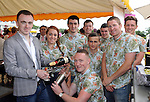 Bar staff pictured looking after customers at the Ross Hotel / Lane Bar Champagne &amp; Cocktail Marquee at Killarney Races ladies Day on Thursday were from left, Pat McGrath, Chloe O'Doherty, Jason Culloty, Stephen Gill, Kieran Fleming, John Harrington, Cillian Rice and Rob Leen.<br /> Picture by Don MacMonagle<br /> <br /> <br /> PR Photo from Ross Hotel