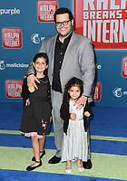 05 November 2018 - Hollywood, California - Josh Gad. Disney's &quot;Ralph Breaks the Internet&quot; Los Angeles Premiere held at El Capitan Theater. <br /> CAP/ADM/BT<br /> &copy;BT/ADM/Capital Pictures