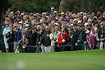 Ryder Cup 206 K Club, Straffin, Ireland...Crowd gather along the 9th fairway during  the morning fourballs session of the second day of the 2006 Ryder Cup at the K Club in Straffan, Co Kildare, in the Republic of Ireland, 23 September 2006...Photo: Eoin Clarke/ Newsfile.