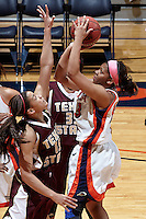 SAN ANTONIO, TX - FEBRUARY 16, 2013: The Texas State University Bobcats vs. the University of Texas at San Antonio Roadrunners Women's Basketball at the UTSA Convocation Center. (Photo by Jeff Huehn)