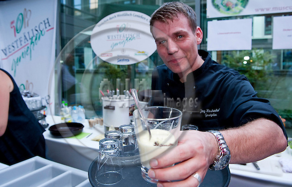 Brussels-Belgium - June 27, 2011 -- ?Westfaelisch Geniessen e.V.? participates at the Summer Party of North Rhine-Westphalia in Brussels; here, Jörg (Joerg, Jorg) HASKENHOFF, cook / chef at Landgasthof Pappelkrug -- no model release -- Photo: Horst Wagner / eup-images