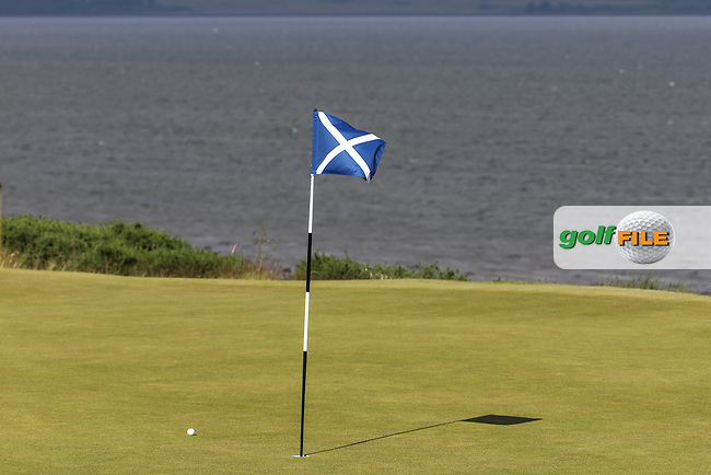 12th green during the First Round of the 2016 Aberdeen Asset Management Scottish Open, played at Castle Stuart Golf Club, Inverness, Scotland. 07/07/2016. Picture: David Lloyd | Golffile.<br /> <br /> All photos usage must carry mandatory copyright credit (&copy; Golffile | David Lloyd)