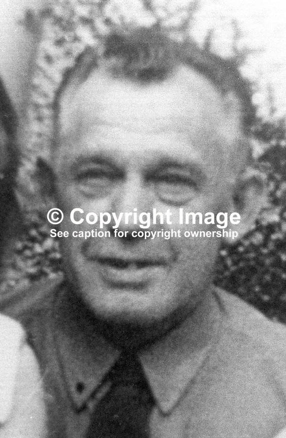 James McWhirter, Bessbrook, Co Armagh, 58 years, married, 3 children, Protestant, who died in the Kingsmill Massacre, also called the Whitecross Massacre, on 5th January 1976. Along with nine other Protestant workmen he was machine-gunned by the Republican Action Force, generally accepted as a flag of convenience for the Provisional IRA. 197601060021JMW1<br /> <br /> Copyright Image from Victor Patterson, 54 Dorchester Park, <br /> Belfast, UK, BT9 6RJ<br /> <br /> t1: +44 28 9066 1296 (from Rep of Ireland 048 9066 1296)<br /> t2: +44 28 9002 2446 (from Rep of Ireland 048 9002 2446)<br /> m: +44 7802 353836<br /> <br /> e1: victorpatterson@me.com<br /> e2: victorpatterson@gmail.com<br /> <br /> www.victorpatterson.com<br /> <br /> Please see my Terms and Conditions of Use at www.victorpatterson.com. It is IMPORTANT that you familiarise yourself with them.<br /> <br /> Images used on the Internet must be visibly watermarked i.e. &copy; Victor Patterson within the body of the image and copyright metadata must not be deleted. Images used on the Internet have a size restriction of 4kbs and will be chargeable at current NUJ rates unless agreed otherwise.<br /> <br /> This image is only available for the use of the download recipient i.e. television station, newspaper, magazine, book publisher, etc, and must not be passed on to any third party. It is also downloaded on condition that each and every usage is notified within 7 days to victorpatterson@me.com<br /> <br /> The right of Victor Patterson to be identified as the author is asserted in accordance with The Copyright Designs And Patents Act (1988).