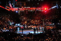 Oct. 29, 2011; Las Vegas, NV, USA; Overall view of the chain link fence of the octagon ring during UFC 137 at the Mandalay Bay event center. Mandatory Credit: Mark J. Rebilas-