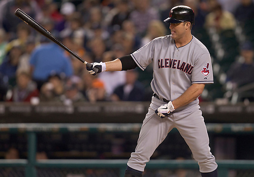 September 27, 2011:  Cleveland Indians designated hitter Jim Thome (#25) at bat during MLB game action between the Cleveland Indians and the Detroit Tigers at Comerica Park in Detroit, Michigan.  The Tigers defeated the Indians 9-6.