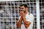 Nacho Fernandez of Real Madrid reacts during their La Liga  2018-19 match between Real Madrid CF and Atletico de Madrid at Santiago Bernabeu on September 29 2018 in Madrid, Spain. Photo by Diego Souto / Power Sport Images
