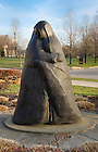 Feb. 13, 2013; Visitation Statue. Photo by Barbara Johnston/University of Notre Dame