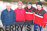 Mickey Joe Burns, Michael Sweeney, Bernard Sweeney, and Mike Quirke, Workmen Rowing Club, Killarney pictured at the Kerry Head of the River competition in Killorglin on Saturday morning.......