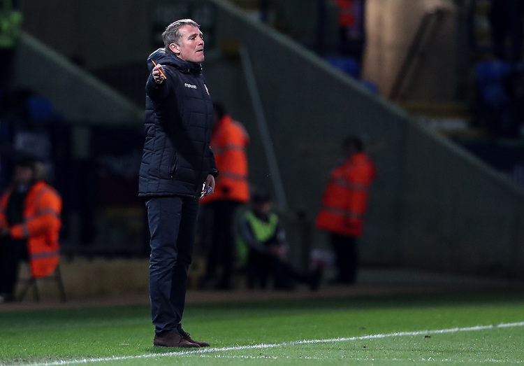 Bolton Wanderers' manager Phil Parkinson <br /> <br /> Photographer Andrew Kearns/CameraSport<br /> <br /> The EFL Sky Bet Championship - Bolton Wanderers v Middlesbrough -Tuesday 9th April 2019 - University of Bolton Stadium - Bolton<br /> <br /> World Copyright © 2019 CameraSport. All rights reserved. 43 Linden Ave. Countesthorpe. Leicester. England. LE8 5PG - Tel: +44 (0) 116 277 4147 - admin@camerasport.com - www.camerasport.com
