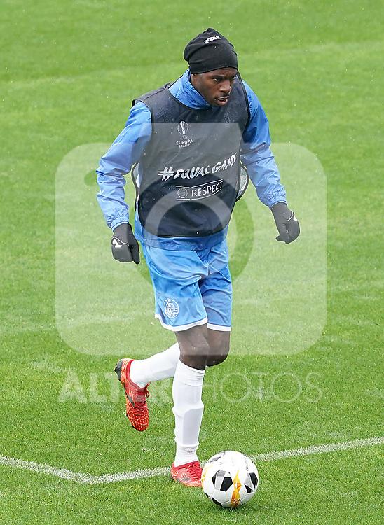 Getafe CF's Allan Nyom during training session. October 23,2019.(ALTERPHOTOS/Acero)