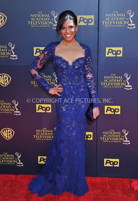 WWW.ACEPIXS.COM<br /> <br /> April 26 2015, LA<br /> <br /> Karla Mosley arriving at The 42nd Annual Daytime Emmy Awards at Warner Bros. Studios on April 26, 2015 in Burbank, California.<br /> <br /> By Line: Peter West/ACE Pictures<br /> <br /> <br /> ACE Pictures, Inc.<br /> tel: 646 769 0430<br /> Email: info@acepixs.com<br /> www.acepixs.com