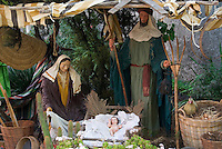 Spain, Canary Islands, La Palma, El Paso: nativity scene