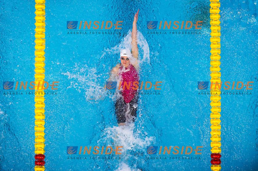 HOSSZU Katinka HUN<br />Women's 50m backstroke heats<br />Netanya, Israel, Wingate Institute<br />LEN European Short Course Swimming Championships <br />Dec. 2 - 6, 2015 Day 04 Dec.05<br />Nuoto Campionati Europei di nuoto in vasca corta<br />Photo Giorgio Perottino/Deepbluemedia/Insidefoto
