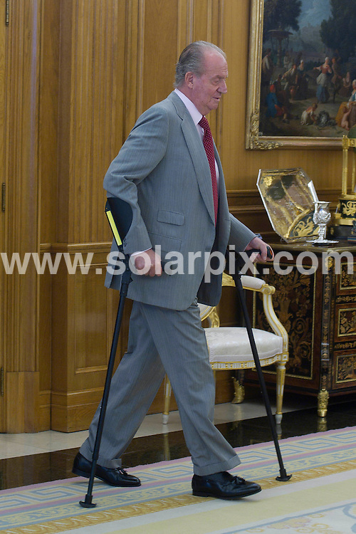 **ALL ROUND PICTURES FROM SOLARPIX.COM**                                             **WORLDWIDE SYNDICATION RIGHTS EXCEPT SPAIN - NO SYNDICATION IN SPAIN**                                                                                  Caption: The King of Spain, Juan Carlos, greets  of president of the republic of Haiti, Michel Joseph Martelly at the Zarzuela Palace, Madrid, Spain. 8 July 2011                                                                This pic: King Juan Carlos                                                                                           JOB REF: 13683 DMS       DATE: 08_07_2011                                                           **MUST CREDIT SOLARPIX.COM OR DOUBLE FEE WILL BE CHARGED**                                                                      **MUST AGREE FEE BEFORE ONLINE USAGE**                               **CALL US ON: +34 952 811 768 or LOW RATE FROM UK 0844 617 7637**