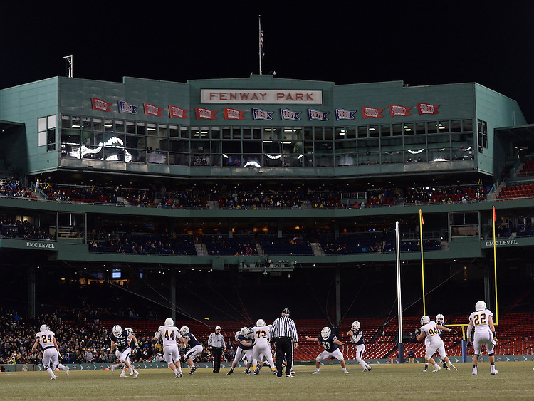 (Boston, MA, 11/25/15) St. John's Prep takes on Xaverian during a high school football game at Fenway Park in Boston on Wednesday, November 25, 2015. Photo by Christopher Evans