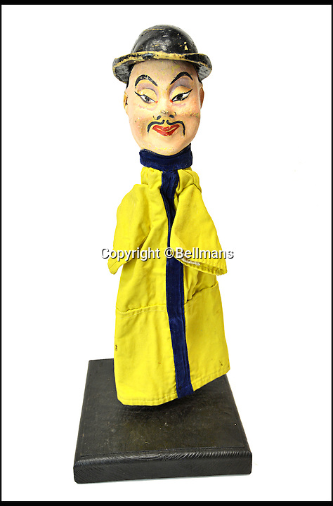 BNPS.co.uk (01202 558833)<br /> Pic: Bellmans/BNPS<br /> <br /> Non PC Chinaman.<br /> <br /> Beats Blackpool - Punch&amp;Judy puppets that graced Cannes on the Cote d'Azur in the 1960's for sale.<br /> <br /> A collection of vintage puppets made for a French Punch and Judy puppeteer over 50 years ago have emerged for sale.<br /> <br /> The 10 papier mache pieces include wife-beating Mr Punch, his long-suffering partner, the crocodile, the policeman and the judge.<br /> <br /> The collection is also made up of five lesser-known characters that feature in the seaside show.<br /> <br /> These are the Chinaman, the black man, the pirate, the chauffeur and the skeleton.