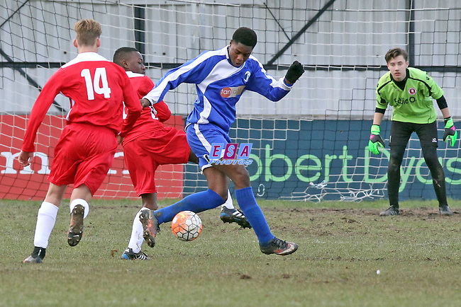 WELLING UNITED v KENT FOOTBALL UNITED<br /> KENT COUNTY FA<br /> U14 CUP FINAL<br /> SUNDAY 6TH MARCH 2016<br /> FAVERSHAM TOWN FC