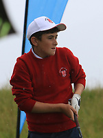 Matthew Whelan (Ennis) on the 1st tee during the Munster Final of the AIG Junior Cup at Tralee Golf Club, Tralee, Co Kerry. 13/08/2017<br /> Picture: Golffile | Thos Caffrey<br /> <br /> <br /> All photo usage must carry mandatory copyright credit     (&copy; Golffile | Thos Caffrey)