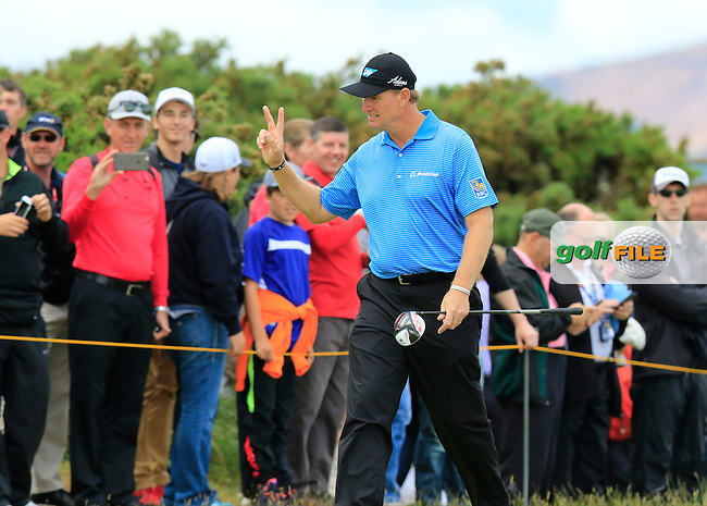 Ernie ELS (RSA) walks off the 16th tee during Sunday's Round  of the 144th Open Championship, St Andrews Old Course, St Andrews, Fife, Scotland. 19/07/2015.<br /> Picture Eoin Clarke, www.golffile.ie
