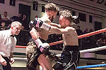 Jamie Speight vs Josh Kennedy 10x3 Featherweight Southern Area Title Fight During Goodwin Boxing: Christmas Carnage. Photo by: Simon Downing.<br /> <br /> Saturday 3rd December 2016 - York Hall, Bethnal Green, London, United Kingdom.