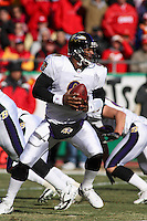Baltimore quarterback Steve McNair in action against the Chiefs at Arrowhead Stadium in Kansas City, Missouri on December 10, 2006.The Ravens won 20-10.