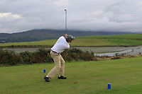Joseph Forde Jnr (Enniscrone) on the 15th tee during the Final of the Junior Cup in the AIG Cups & Shields Connacht Finals 2019 in Westport Golf Club, Westport, Co. Mayo on Thursday 8th August 2019.<br /> <br /> Picture:  Thos Caffrey / www.golffile.ie<br /> <br /> All photos usage must carry mandatory copyright credit (© Golffile | Thos Caffrey)