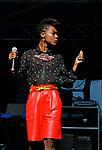 Zakiya Harris performs at the 2012 Life is Living Festival