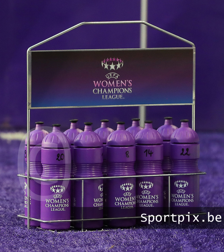 20190912 - Anderlecht , BELGIUM : Anderlecht's  pictured during the female soccer game between the Belgian Royal Sporting Club Anderlecht Dames  and BIIK Kazygurt from Shymkent in Kazachstan, this is the first leg in the round of 32 of the UEFA Women's Champions League season 2019-20120, Thursday 12 th September 2019 at the Lotto Park in Anderlecht , Belgium. PHOTO SPORTPIX.BE | SEVIL OKTEM