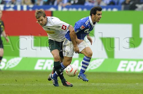 25 09 2010  Bundesliga Season 2010 2011 6 Matchday FC Schalke 04 Blue Bor Moenchengladbach White 2 2 Jurado Thorben Marx