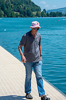 Lucerne, SWITZERLAND, 12th July 2018, Friday  FISA World Cup series, No.3, Lake Rotsee, Lucerne, NZ Coach, working in Canada,  Dick TONKS,