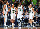 Jan. 7, 2012; Skylar Diggins, Women's Basketball vs Connecticut. Notre Dame won 74-67 in overtime. ..Photo by Matt Cashore/University of Notre Dame