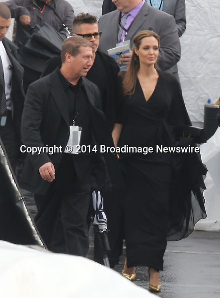 Pictured: Brad Pitt and Angelina Jolie<br /> Mandatory Credit &copy; Fernando Allende/Adriano Camolese/Broadimage<br /> Brad Pitt and Angelina Jolie signing authographs at the 2014 Independent Spirit Awards<br /> <br /> 3/1/14, Santa Monica, California, United States of America<br /> Reference: 030114_FALA_BDG_040<br /> <br /> Broadimage Newswire<br /> Los Angeles 1+  (310) 301-1027<br /> New York      1+  (646) 827-9134<br /> sales@broadimage.com<br /> http://www.broadimage.com