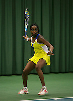 Rotterdam, The Netherlands, 15.03.2014. NOJK 14 and 18 years ,National Indoor Juniors Championships of 2014, Sylvia Okafor (NED)<br /> Photo:Tennisimages/Henk Koster