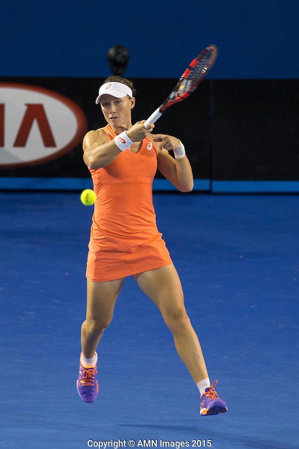 Samantha Stosur (AUS)<br /> <br /> Tennis - Australian Open 2015 - Grand Slam -  Melbourne Park - Melbourne - Victoria - Australia  - 22 January 2015. <br /> &copy; AMN IMAGES