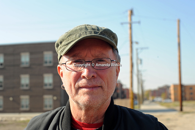 "Bill Ayers, a professor of education, stands for a portrait on election day after voting for Barack Obama near the University of Illinois Chicago, UIC, campus in Chicago, Illinois on November 4, 2008.  Ayers' legacy of activism with the group the Weather Underground in the late 1960s and life as a fugitive from the FBI came to the fore during the 2008 presidential campaign after it was revealed that Democratic presidential nominee Barack Obama had once attended a political fundraiser at Ayers' house and Republican vice-presidential candidate accused Obama of ""palling around with terrorists""."