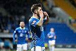 St Johnstone v Hamilton Accies&hellip;10.11.18&hellip;   McDiarmid Park    SPFL<br />Matty Kennedy celebrates his goal<br />Picture by Graeme Hart. <br />Copyright Perthshire Picture Agency<br />Tel: 01738 623350  Mobile: 07990 594431