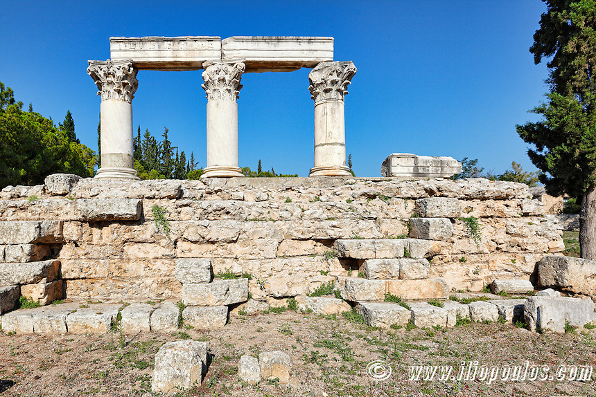 Temple E in Ancient Corinth, Greece