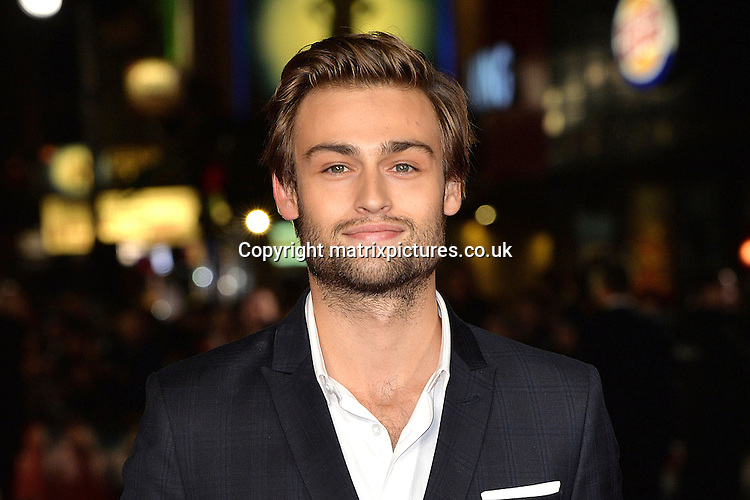 NON EXCLUSIVE PICTURE: MATRIXPICTURES.CO.UK<br /> PLEASE CREDIT ALL USES<br /> <br /> WORLD RIGHTS<br /> <br /> English actor Douglas Booth attending the Pride And Prejudice And Zombies European Film Premiere, at Vue West End cinema in London.<br /> <br /> FEBRUARY 1st 2016<br /> <br /> REF: JWN 16273