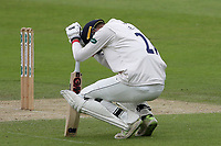 Injury concern for Tom Westley of Essex during Yorkshire CCC vs Essex CCC, Specsavers County Championship Division 1 Cricket at Emerald Headingley Cricket Ground on 5th June 2019