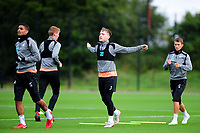 Barrie McKay of Swansea City (centre) in action during the Swansea City Training Session at The Fairwood Training Ground, Wales, UK. Tuesday 11th September 2018